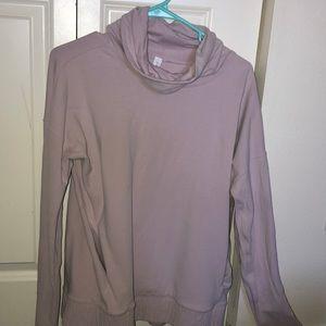 Light pink cowl neck lululemon sweatshirt